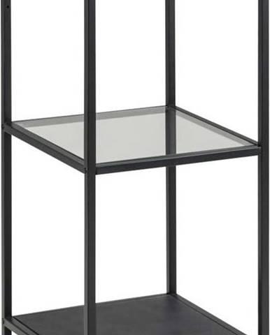 Černý regál Actona Seaford, 35 x 82,5 cm