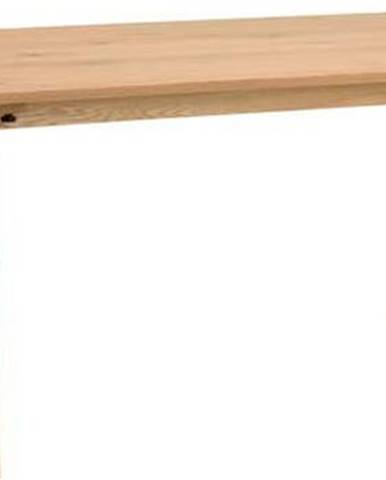 Dřevěný jídelní stůl v dubovém dekoru Rowico Melfort, 180 x 90 cm