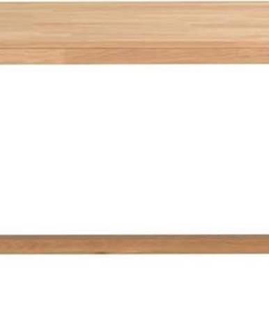 Jídelní stůl z broušeného dubového dřeva Rowico Brooklyn, 220 x 95 cm