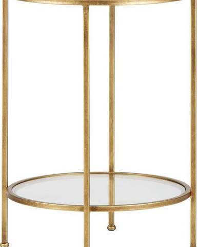 Mosazný odkládací stolek v bronzové barvě BePureHome Goddess, ⌀45,5cm