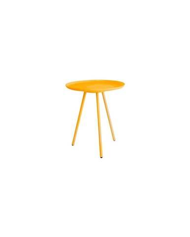 Žlutý odkládací stolek White Label Frost