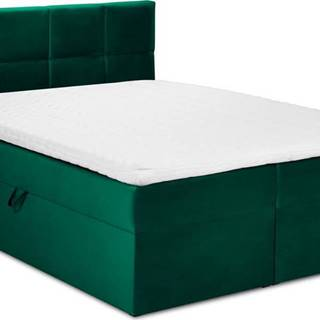 Zelená sametová dvoulůžková postel Mazzini Beds Mimicry,160x200cm