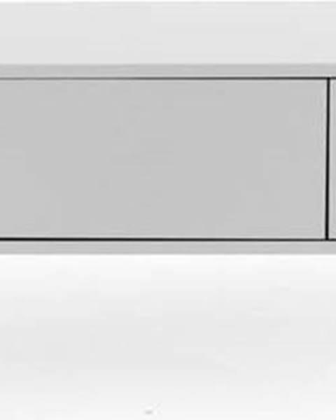 Tenzo Bílá nízká komoda Tenzo Uno, šířka 171cm