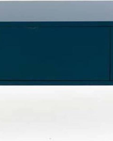 Tenzo Petrolejově modrá nízká komoda Tenzo Uno, šířka 171cm