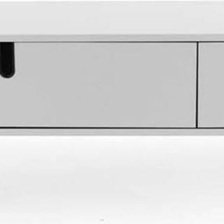 Bílá nízká komoda Tenzo Uno, šířka 171cm