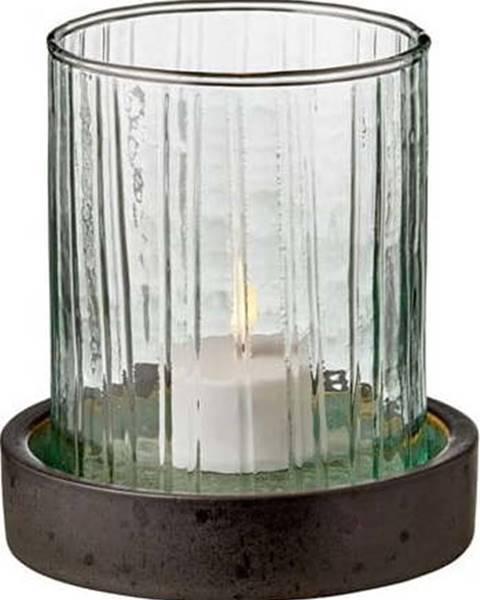 Bitz Zelená LED svíčka Bitz Hurricane,výška11 cm