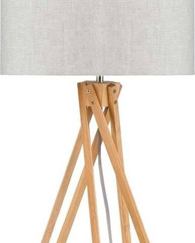Stolní lampa se světle béžovým stínidlem a konstrukcí z bambusu Good&Mojo Kilimanjaro