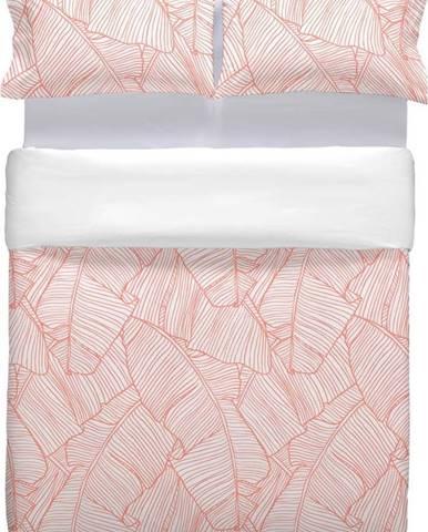 Růžové bavlněné povlečení Marghett Coral, 220 x 220 cm
