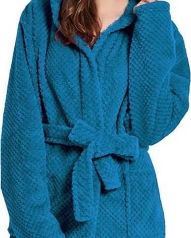 Tmavě modrý unisex župan z mikrovlákna DecoKing Sleepyhead, velikost XL
