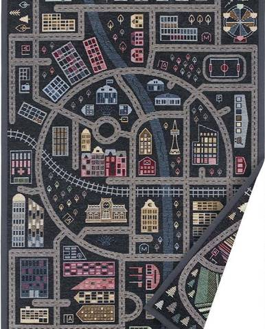 Černý oboustranný dětský koberec Narma Ulejoe, 140 x 200 cm