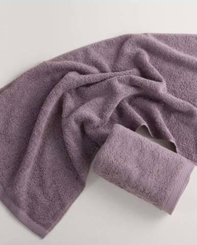Fialový bavlněný ručník El Delfin Lisa Coral, 30 x 50 cm