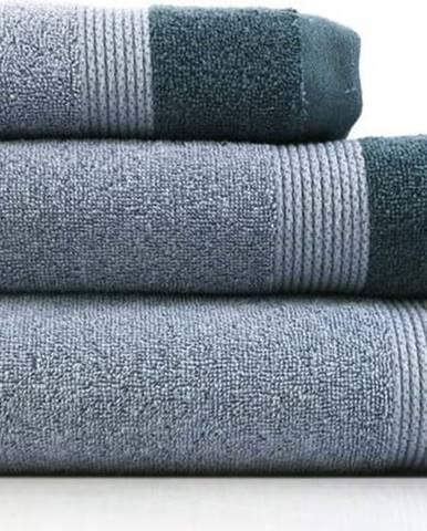 Sada 3 modrých bavlněných ručníků Ethere Banda Blue