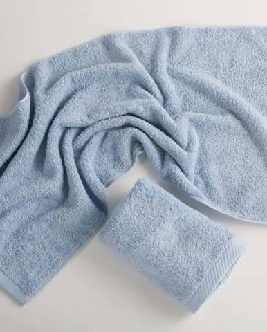 Světle modrý bavlněný ručník El Delfin Lisa Coral, 50 x 100 cm