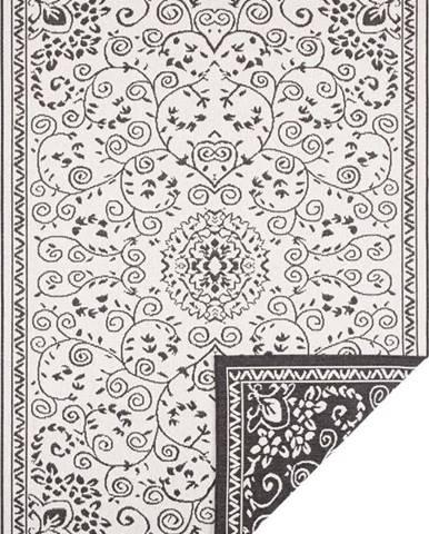 Černo-krémový venkovní koberec Bougari Leyte, 200 x 290 cm