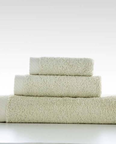 Sada 3 zelených bavlněných ručníků El Delfin Lisa Coral