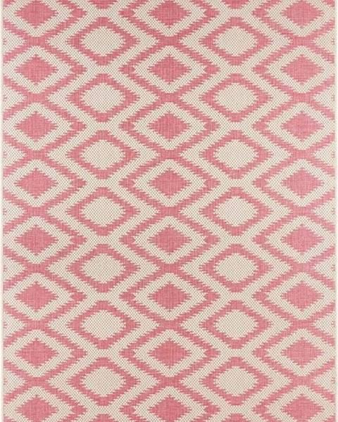 Bougari Červeno-krémový venkovní koberec Bougari Isle, 70x140cm