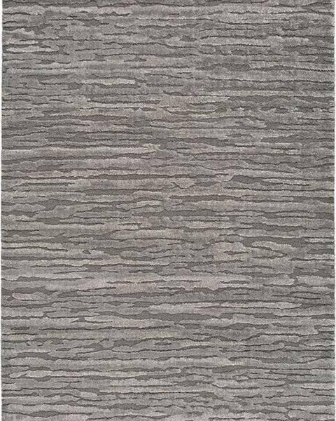 Universal Šedý koberec Universal Yen Lines, 80 x 150 cm