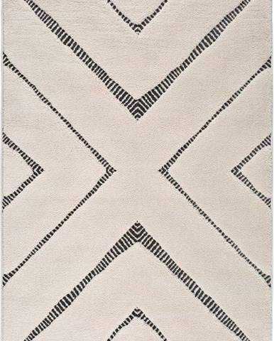 Béžový koberec Universal Swansea Cross, 80 x 150 cm