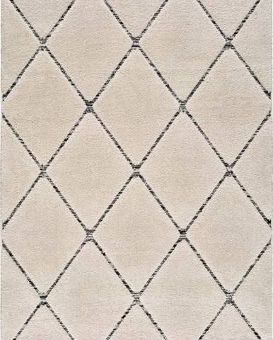 Béžový koberec Universal Swansea Line, 80 x 150 cm
