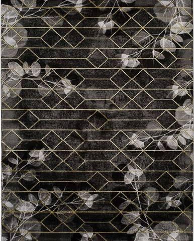 Černý koberec Universal Poet, 160 x 230 cm