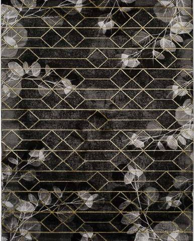 Černý koberec Universal Poet, 80 x 150 cm