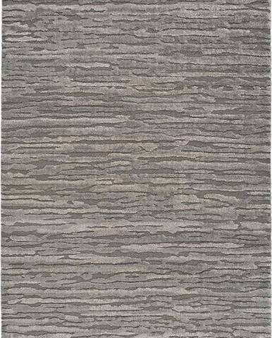 Šedý koberec Universal Yen Lines, 80 x 150 cm