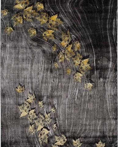 Tmavě šedý koberec Universal Poet Leaf, 160 x 230 cm