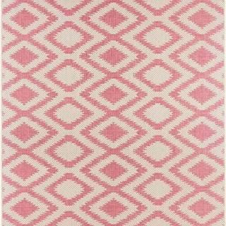 Červeno-krémový venkovní koberec Bougari Isle, 70x140cm