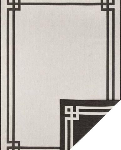 Černo-krémový venkovní koberec Bougari Manito, 200 x 290 cm
