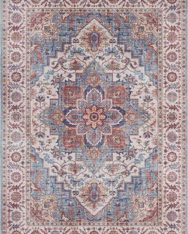 Červeno-modrý koberec Nouristan Anthea, 200 x 290 cm