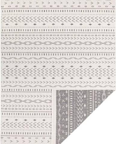 Šedo-krémový venkovní koberec Bougari Kuba, 120 x 170 cm