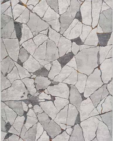Šedý koberec Universal Berlin Marble, 120 x 170 cm