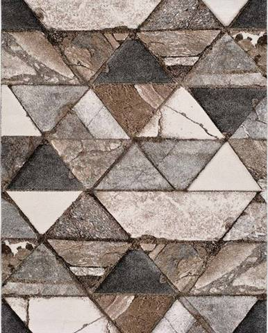 Hnědý koberec Universal Istanbul Triangle, 120 x 170 cm