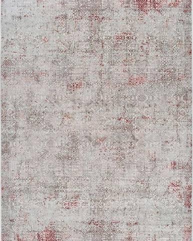 Šedo-růžový koberec Universal Babek, 80 x 150 cm