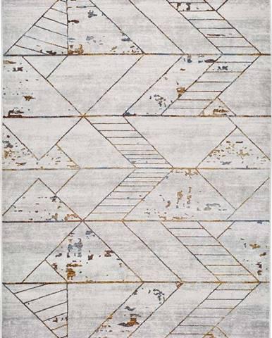 Šedý koberec Universal Berlin Pieces, 80 x 150 cm