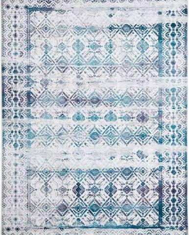 Světle modrý koberec Floorita Kilim, 120 x 180 cm