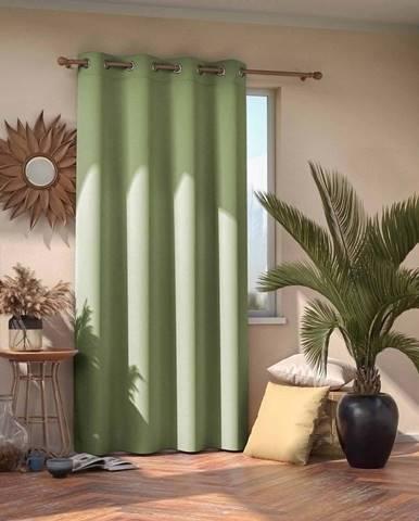 Světle zelený zatemňovací závěs AmeliaHome Eyelets Pistachio, 140 x 245 cm