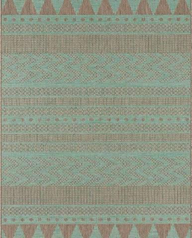 Zeleno-béžový venkovní koberec Bougari Sidon, 70 x 140 cm