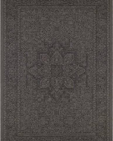 Černo-béžový venkovní koberec Bougari Anjara, 140 x 200 cm
