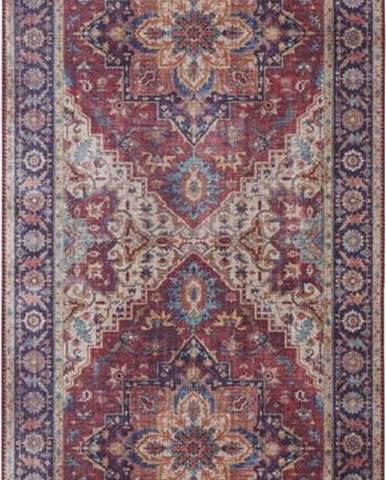 Červeno-fialový koberec Nouristan Anthea, 80 x 200 cm