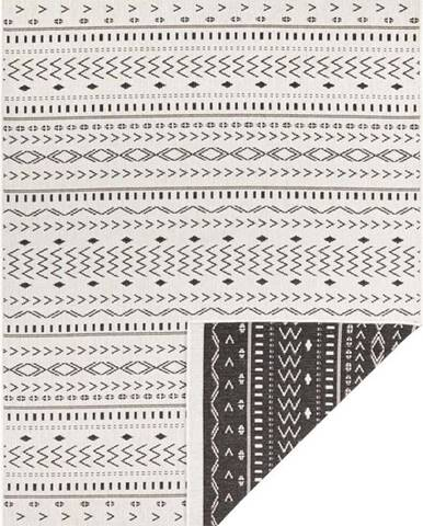 Černo-krémový venkovní koberec Bougari Kuba, 290 x 200 cm