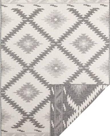 Šedo-krémový venkovní koberec Bougari Malibu, 290 x 200 cm