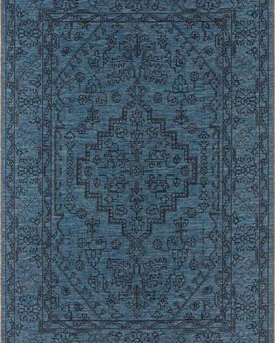 Tmavě modrý venkovní koberec Bougari Tyros, 70 x 140 cm