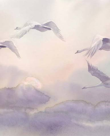 Velkoformátová tapeta Artgeist Flying Swans,200x140cm