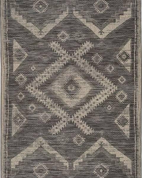 Universal Šedý venkovní koberec Universal Devi Ethnic, 80 x 150 cm