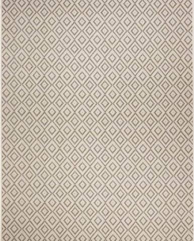 Béžovo-šedý venkovní koberec Ragami Porto, 70 x 140 cm
