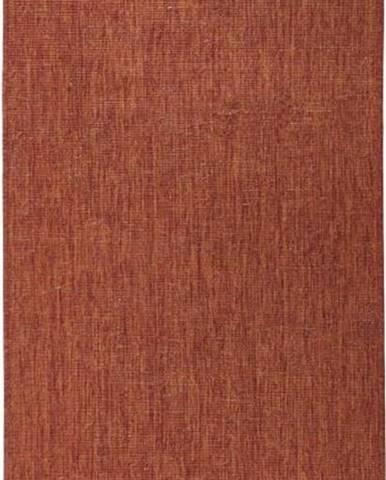 Cihlově červený venkovní koberec Bougari Miami, 80x350 cm