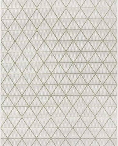 Zeleno-béžový venkovní koberec Ragami Athens, 80 x 150 cm
