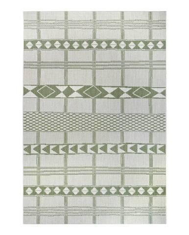 Zeleno-béžový venkovní koberec Ragami Madrid, 80 x 150 cm