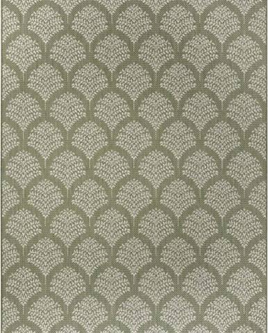 Zelený venkovní koberec Ragami Moscow, 80 x 150 cm